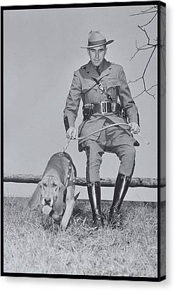 Policeman And His Dog Walking, 1950s Canvas Print by Archive Holdings Inc.