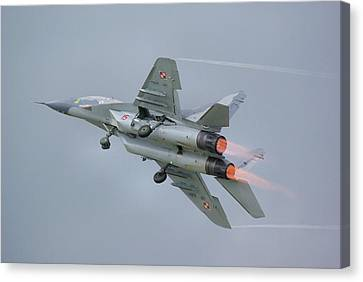 Polish Air Force Mig-29 Canvas Print by Tim Beach