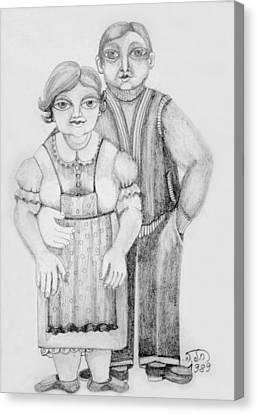 Polish Couple Canvas Print