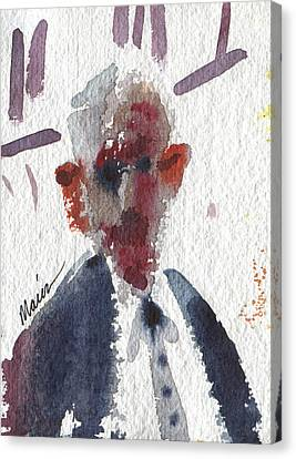 Character Study Canvas Print - Politician by Donald Maier