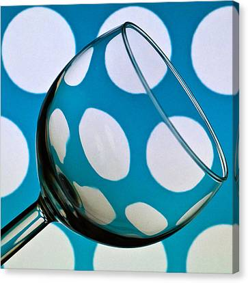 Canvas Print featuring the photograph Polka Dot Glass by Steve Purnell