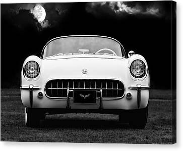 Polo White Night Canvas Print by Peter Chilelli