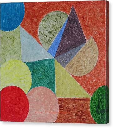 Canvas Print featuring the painting Polychrome by Sonali Gangane