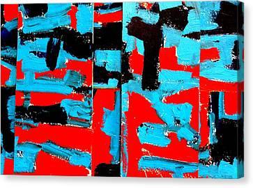 Polyptych  Iv Canvas Print by John  Nolan