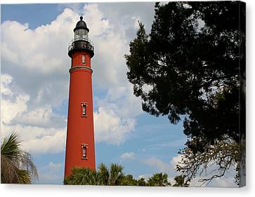 Ponce Inlet Lighthouse Canvas Print by Theresa Johnson