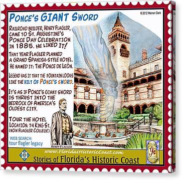 Canvas Print - Ponce's Giant Sword by Warren Clark