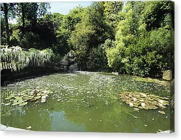 Pond At Pine Lodge Gardens Canvas Print
