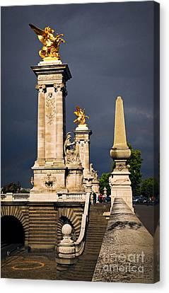 Pont Alexander IIi In Paris Before Storm Canvas Print by Elena Elisseeva