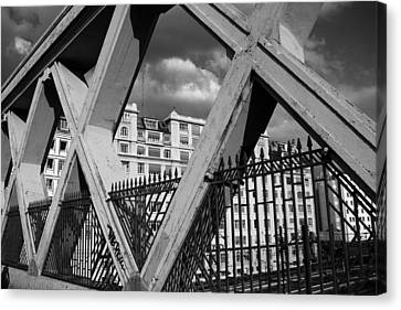 Pont Lafayette Paris Canvas Print by Andrew Fare
