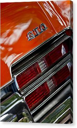 1969 Pontiac Gto Judge Coupe Taillight Emblem Canvas Print by Jill Reger