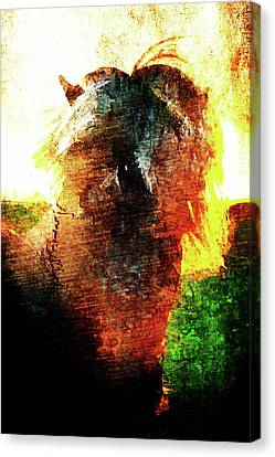 Canvas Print featuring the digital art Pony by Andrea Barbieri