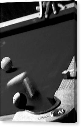Pool Balls Canvas Print by Chris Berry