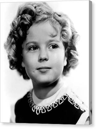 Poor Little Rich Girl, Shirley Temple Canvas Print by Everett