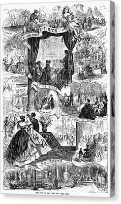 Poor New York, 1865 Canvas Print