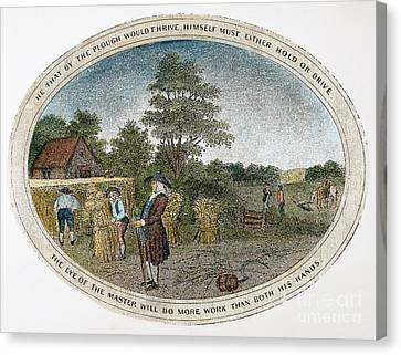 Poor Richard Illustrated Canvas Print by Granger