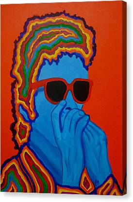 Pop Dylan Canvas Print by Pete Maier