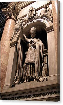 Pope Leo Xii At The Vatican Canvas Print