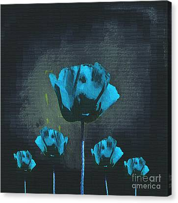 Poppies Fun 01 - Bb Canvas Print by Variance Collections