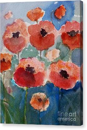 Poppies In June Canvas Print by Trilby Cole
