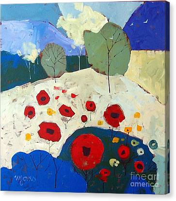 Poppies Canvas Print by Micheal Jones