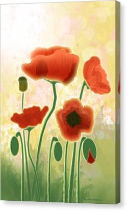 Poppy Mountain Meadow Canvas Print by Melisa Meyers