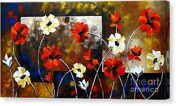 Poppy Spectrum Canvas Print by Uma Devi