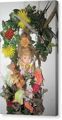Porcelain Doll Arrangement Canvas Print by HollyWood Creation By linda zanini