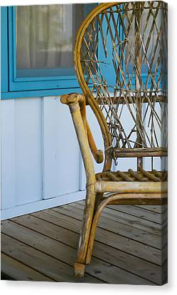 Porch Chair Canvas Print by Theresa Johnson