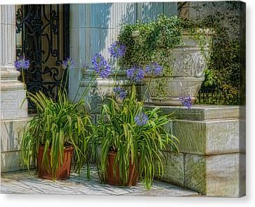 Porch Planters Canvas Print by Robin-Lee Vieira