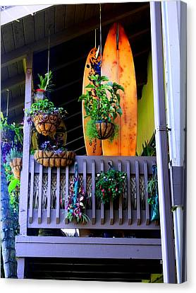 Porch Surf Canvas Print by Sharon Farris