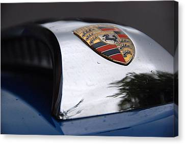 Canvas Print featuring the photograph Porsche Super 90 Marque by John Schneider