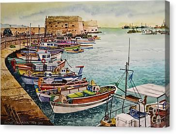 Port Of Heraklion Canvas Print