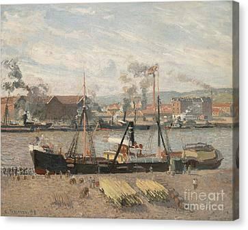 Camille Pissarro Canvas Print - Port Of Rouen by Camille Pissarro