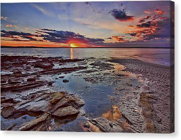 Canvas Print featuring the photograph Port Stephens Sunset by Paul Svensen