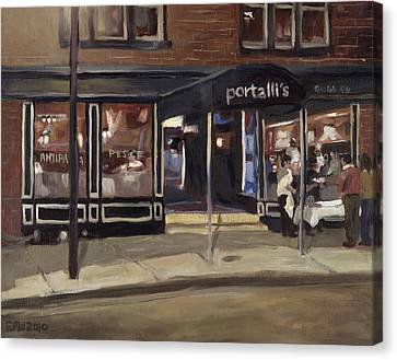 Portall's At Night Canvas Print by Edward Williams