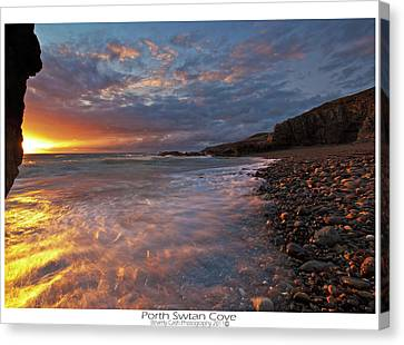Canvas Print featuring the photograph Porth Swtan Cove by Beverly Cash