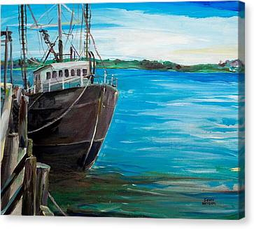 Portland Harbor - Home Again Canvas Print by Scott Nelson