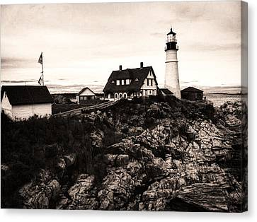 Canvas Print featuring the photograph Portland Head by Kelly Reber
