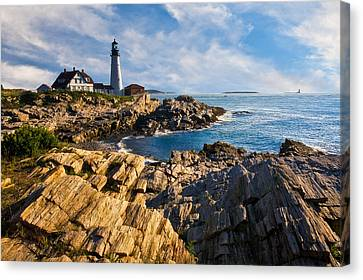 Portland Head Light Canvas Print by Guy Schmickle