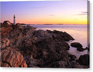 Portland Head Lighthouse Seascape Canvas Print by Roupen  Baker