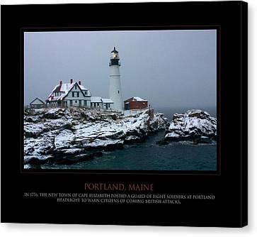 Portland Headlight Canvas Print by Jim McDonald Photography