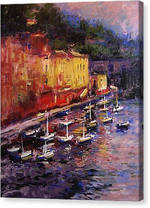 Portofino At Sundown Canvas Print by R W Goetting