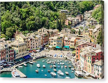 Portofino Harbor Canvas Print by Alfredo J G A Borba