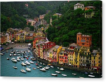 Portofino Canvas Print by John Galbo