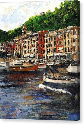 Portofino Late October Canvas Print by Randy Sprout