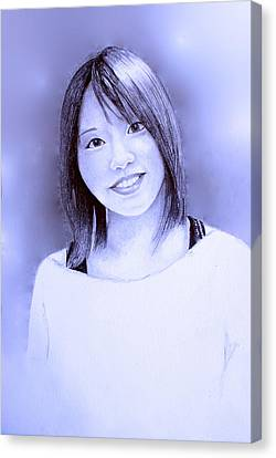 Portrait Of A Japanese Girl Canvas Print by Tim Ernst