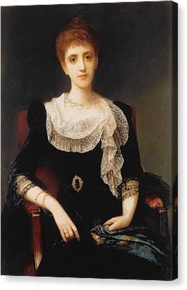 Portrait Of A Lady Canvas Print by Charles Edward Halle