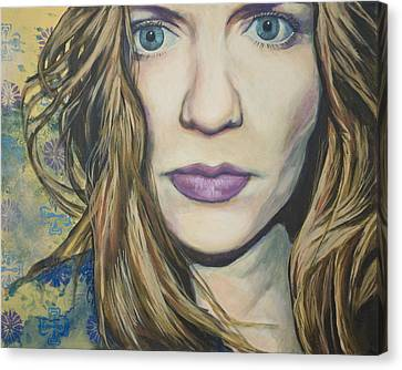 Portrait Of A Wallflower Canvas Print by Tyler Auman