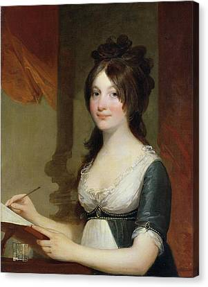 Portrait Of A Young Woman Canvas Print by Gilbert Stuart
