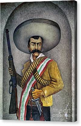 Portrait Of A Zapatista Canvas Print by Granger